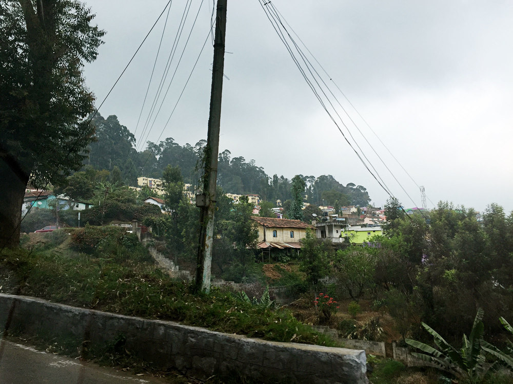 Outskirts of Ooty on the way to the hotel.