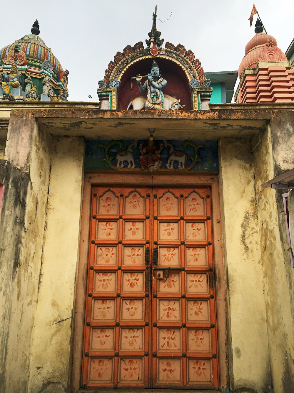 Entrance to a small Krishna temple in Ooty.