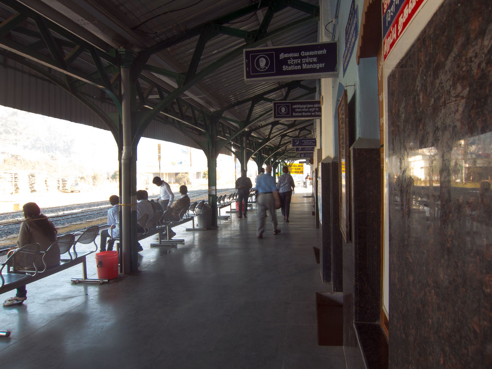 Platform of the Ooty train station.