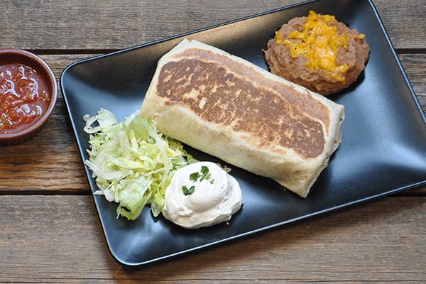 Steak or Chicken Grilled Burrito