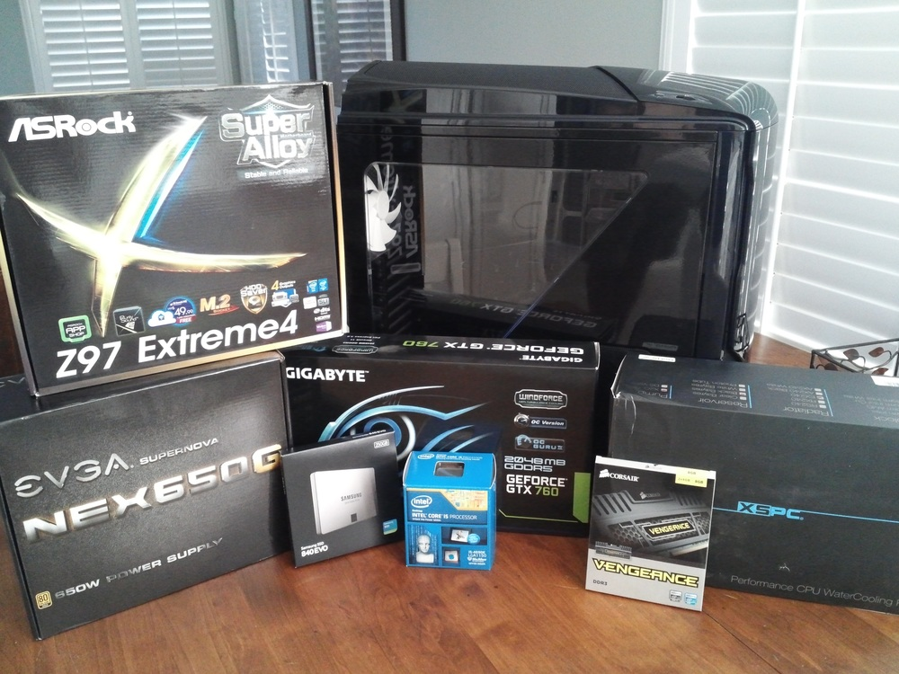 All of my components for the computer