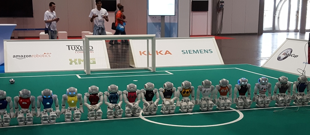 Robots from all teams around the world