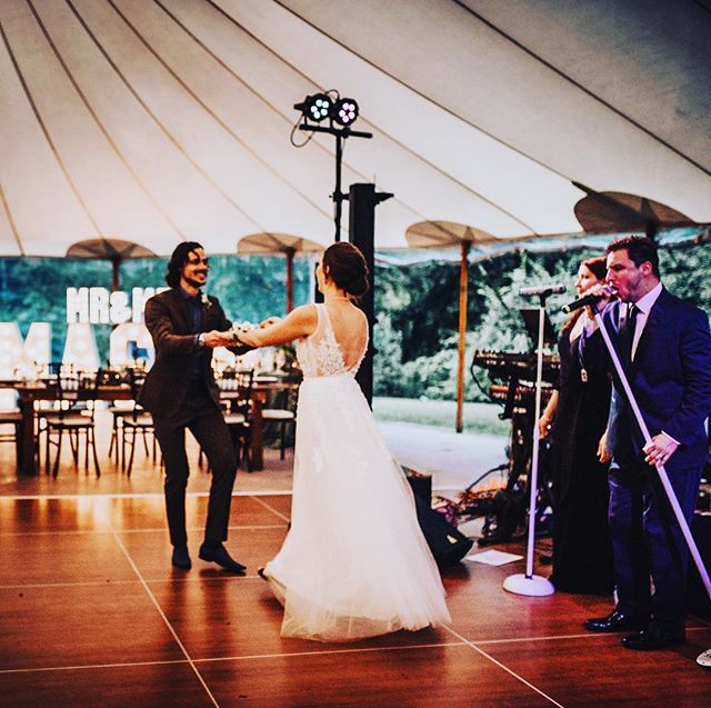 Cheers to the weekend Insta Nation!! Nothing more magical than a First Dance!! Shout out to our besties @yourloveinlights - Photo credit goes to our dear friend Emily E. @goldenauraphotography 🤗 #love #firstdance #married