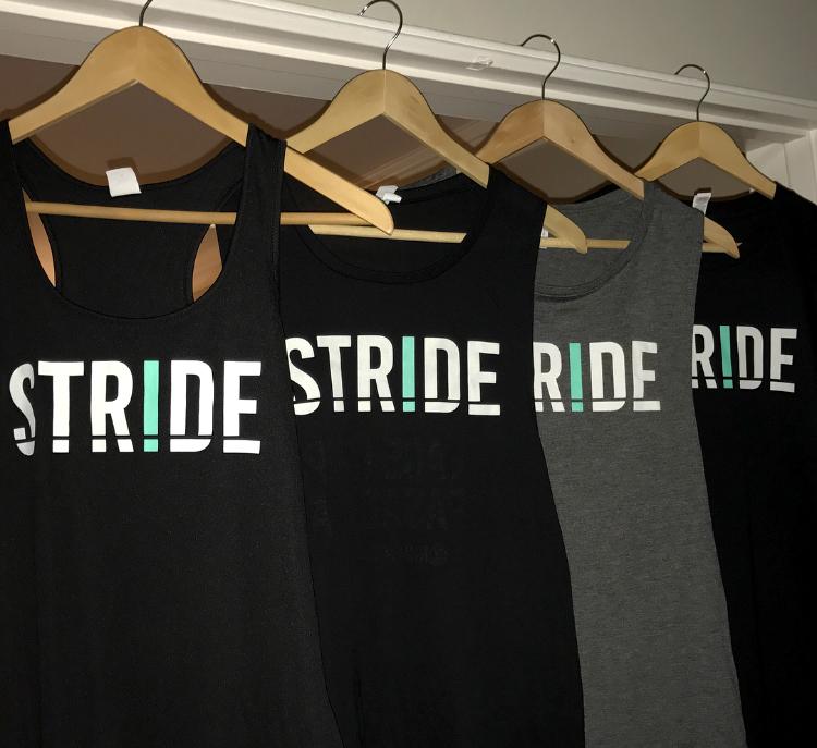 STRIDE Treadmill Studio tank tops