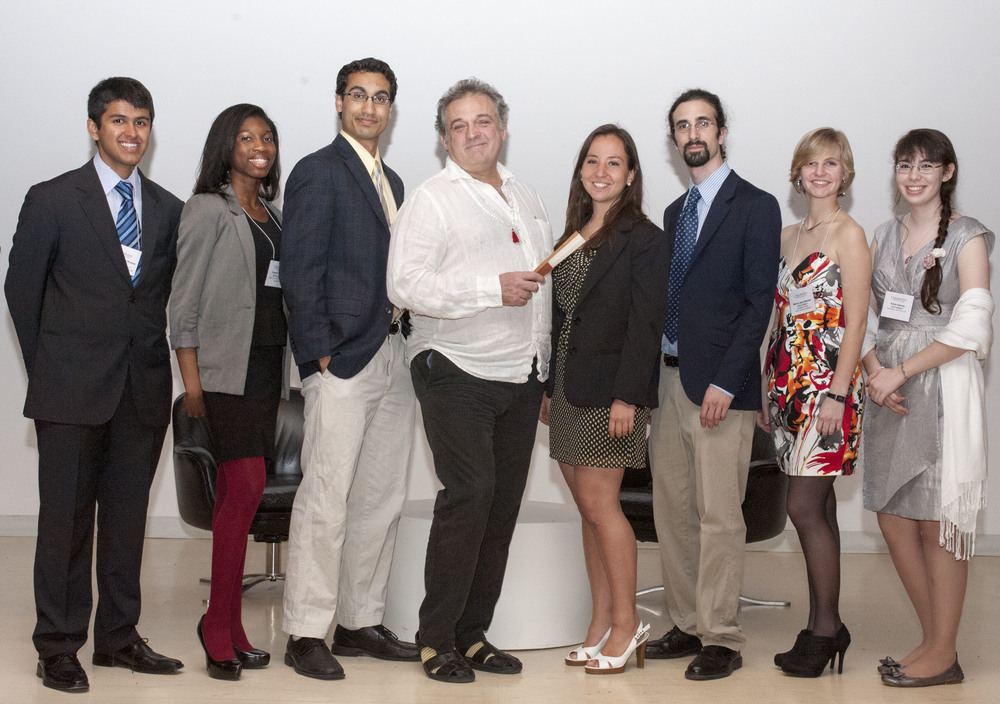 Mark Morris with the 2012 Legacy winners:Nishant Ganesh-Kumar, Emerald Holman, Shubhro Saha, Pamela Jimenez Cardenas,Simon Linn Gerstein,Marian Joan Bechtel, and Annie Salinas