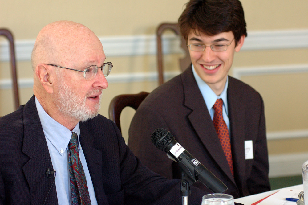 Jules Feiffer with Legacy Winner Ronen Katz at the 2006 Roundtable