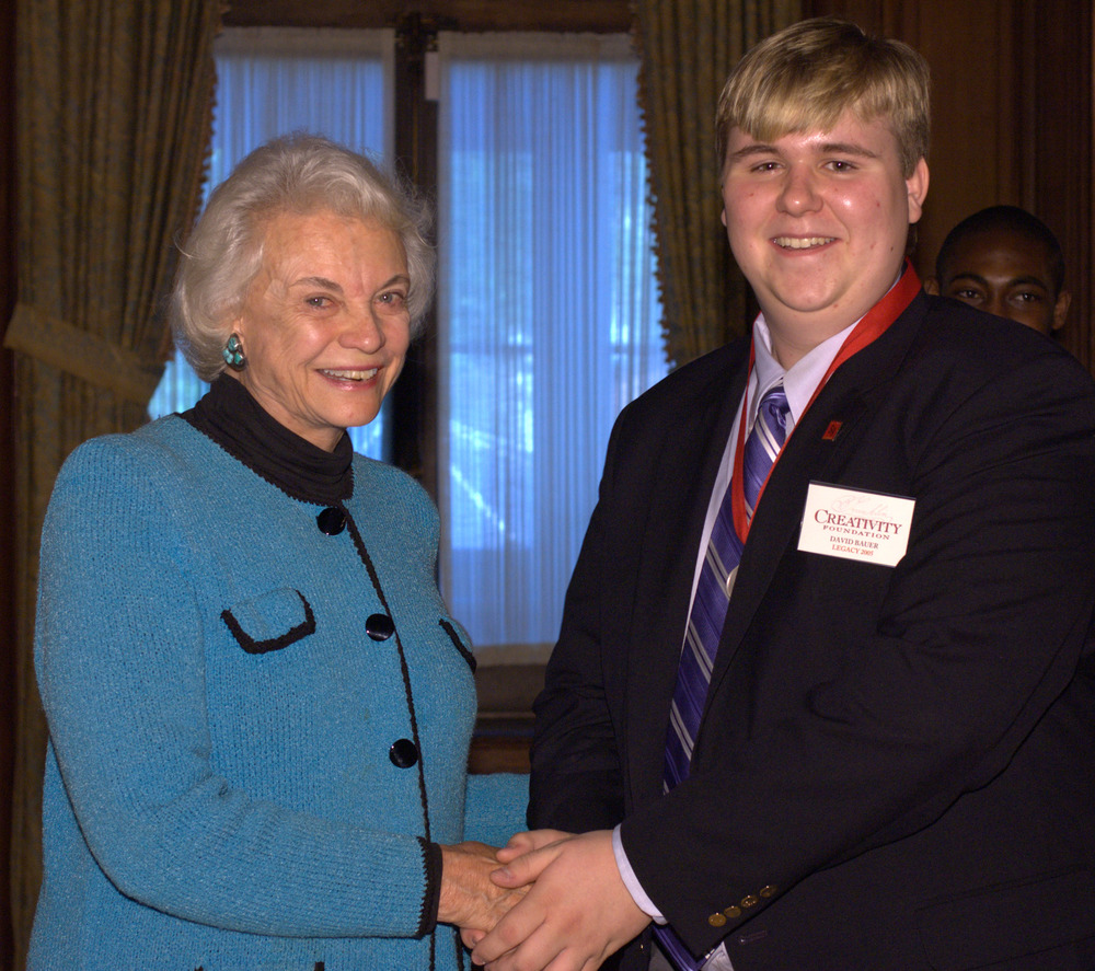 David with 2005 Creativity Laureate Sandra Day O'Connor