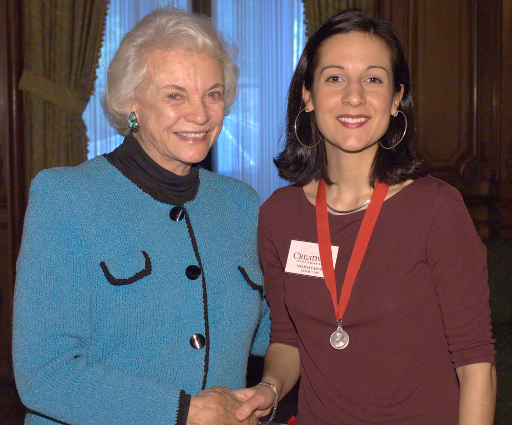 Melissa with 2005 Creativity Laureate Sandra Day O'Connor