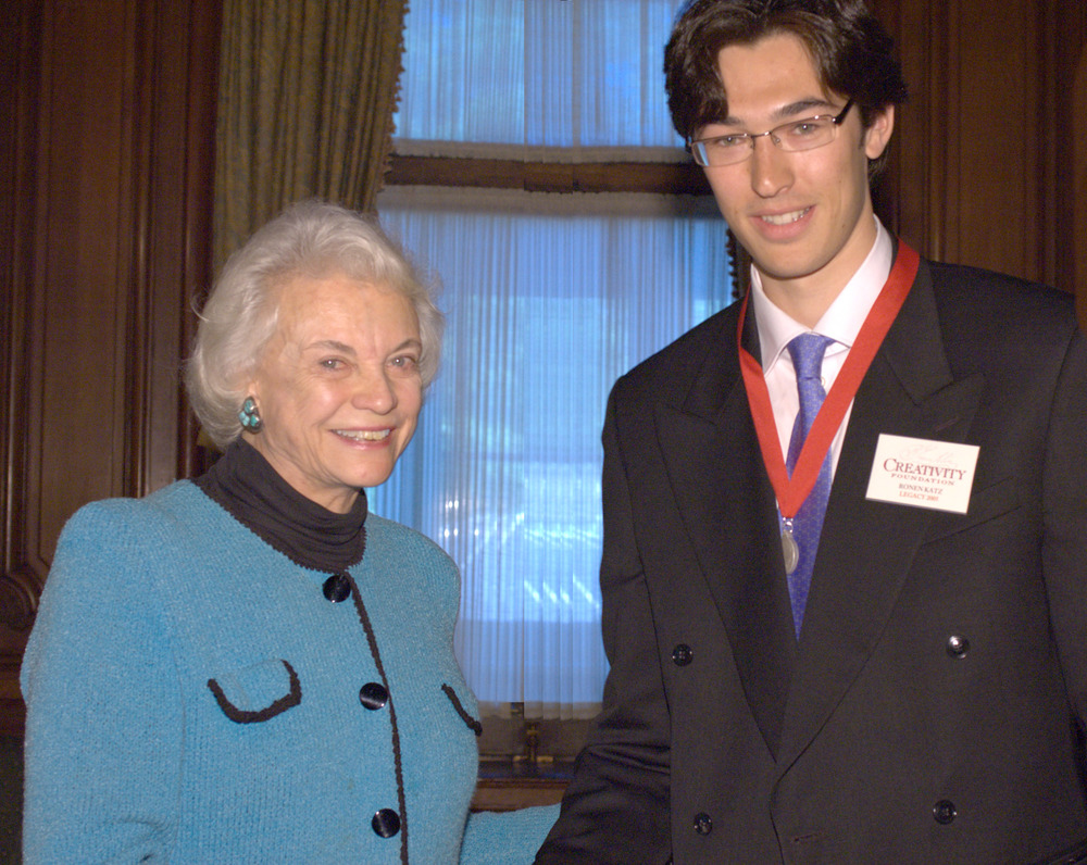 Ronen with 2005 Creativity Laureate Sandra Day O'Connor