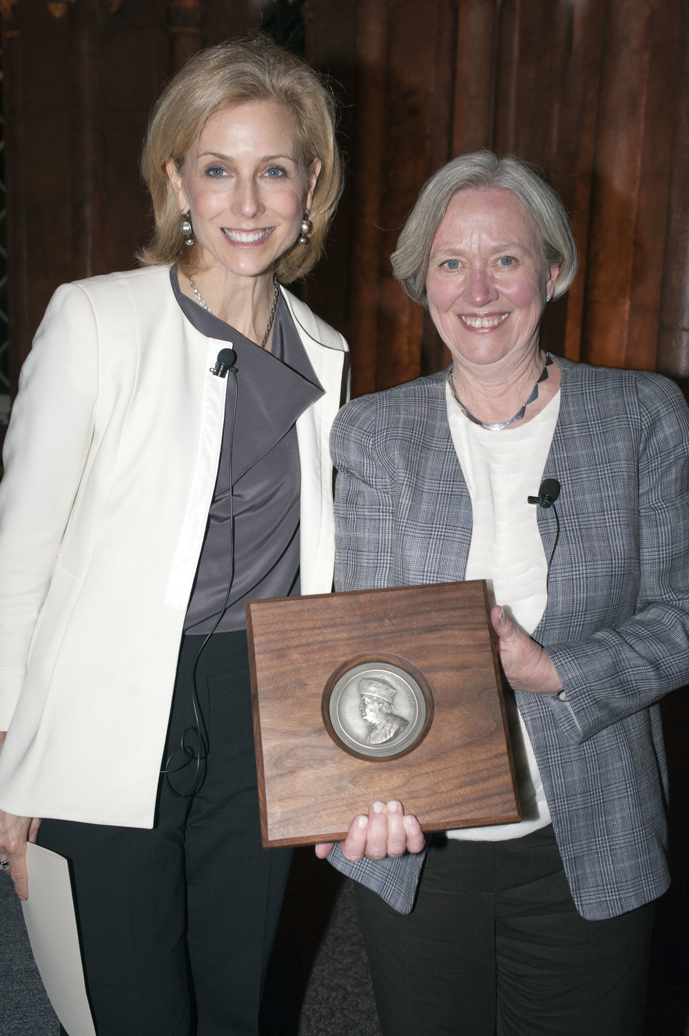 Shirley Tilghman with Katherine Bradley
