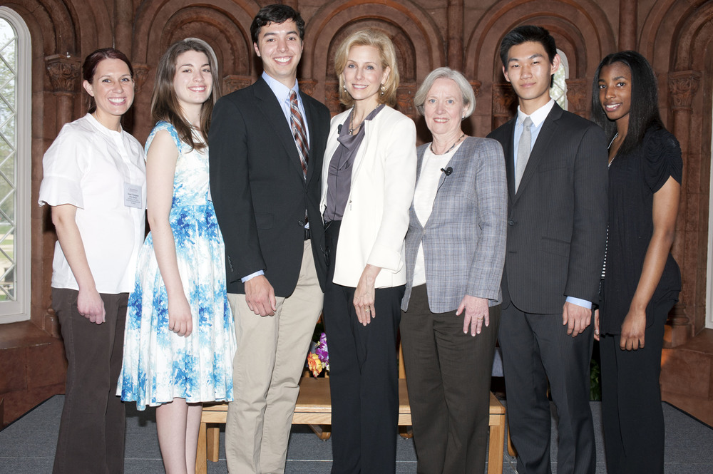 The 2014 Legacy Winners with Katherine Bradley and Laureate Shirley Tilghman