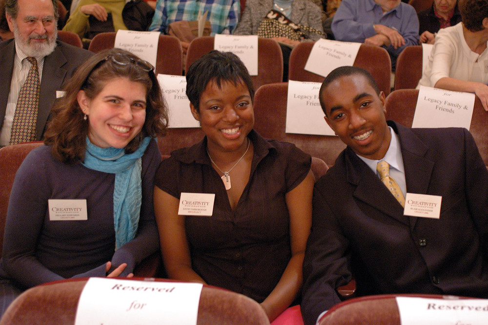 Davie Yarborough (Center) with Legacy winners Hillary Edwards and Blair Alexander Jr.