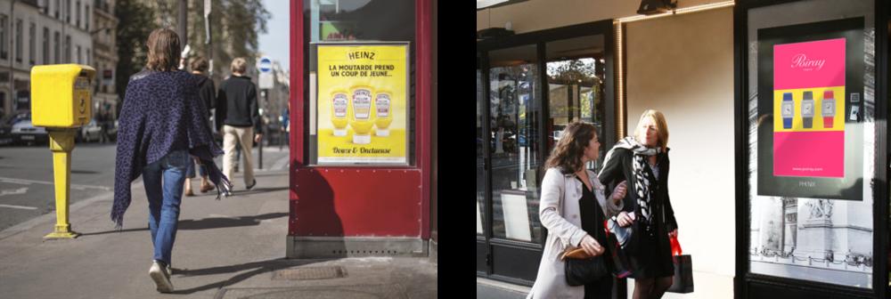 Leader français des formats piétons : affichage urbain print...et réseau d'écrans digitaux en centre-ville