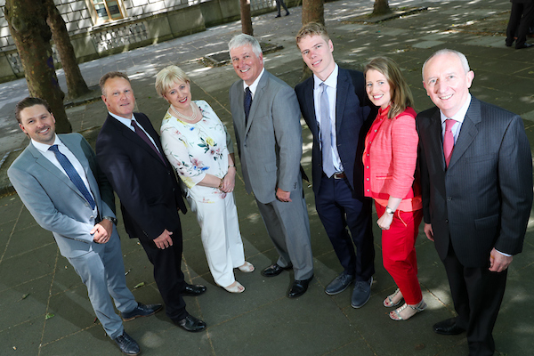 From left to right:  Allan Mulrooney,  Regional Business Development Executive, North West Region, IDA Ireland,  John Nugent , Regional Business Development Manager, North West Region, IDA Ireland, Minister for Business, Enterprise & Innovation,  Heather Humphreys TD ,  Barry Henderson , E3 Retail COO and co-founder, Chris Henderson  of E3 Retail,  Kathleen Bohan , Project Executive, Emerging Business Division, IDA Ireland &  Kevin Carroll , Manager, Emerging Business Division, IDA Ireland.