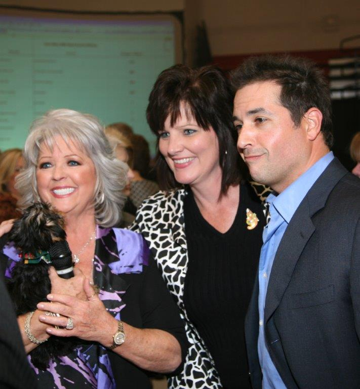 Paula Deen%2c Ann Owen and Bobby Deen at the GraceWay Live Auction .jpg