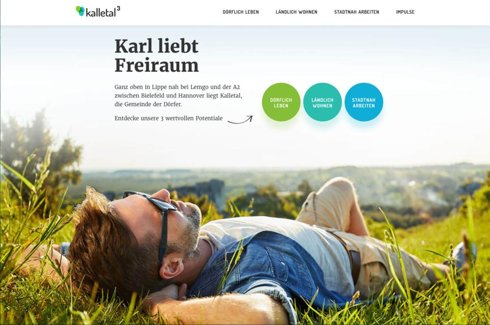 Für die Gemeinde Kalletal entwickelten und gestalteten wir eine Image-Website. Kuck mal: kalletalhoch3.de