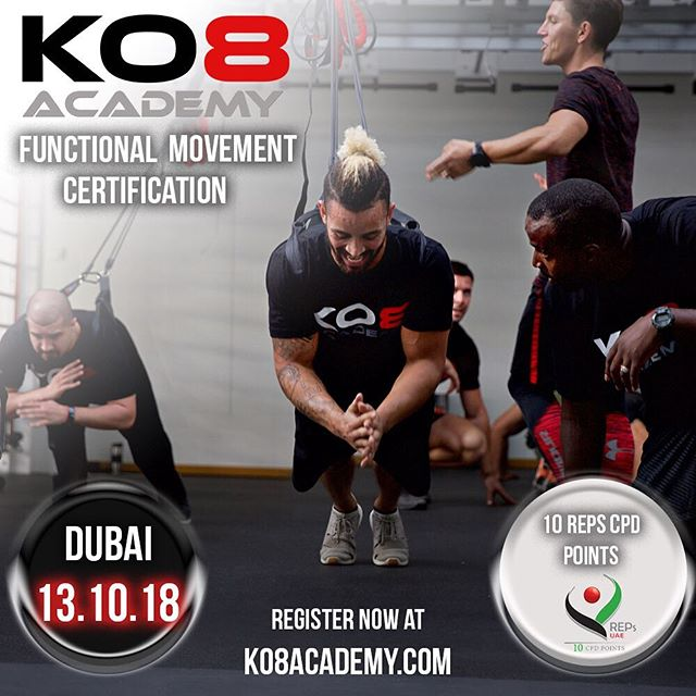 KO8 Academy - Functional Movement Certification . . . Is it time to learn the 8 pillars of the KO8 System to show you how to create a strong, robust and supple body that won't breakdown and will last you a lifetime...? Then join us this October! . . . 7th Oct - Liverpool, UK 🇬🇧 13th Oct - Dubai, UAE 🇦🇪 . . . We cover a huge variety of exercise ideas and in depth coaching techniques across fitness fundamentals such as - Mobility - Strength - Endurance And show you how to enhance your application of these either a coaching environment or for your own personal regime . . . REMAINING SPOTS ARE LIMITED to register now go to KO8ACADEMY.COM 💪🏻 . . . #WeTrainWhereWeWant 🌍 @ko8_fitness  WWW.KO8.FITNESS . . . #KO8 #KO8academy #functionaltraining #functionalmovement #functionalfitness #coaching #bodyweight #bodyweighttraining #suspensiontraining #resistancebands #mobility #strength #endurance #certification #personaltrainer #pt #fitspo #fitness #exercises #londonfitness #dubaifitfam #fitnessindxb #dubaifitness #ukfitness #ukfitfam #liverpool #fitfam #dubaipersonaltrainer