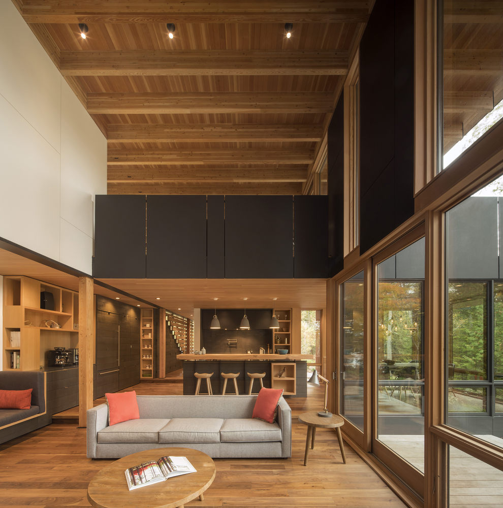 Photograph via Architectural Digest   Haliburton, Minden /2 hours and 35 minutes from Toronto  $835/night - Accommodates 12 guests