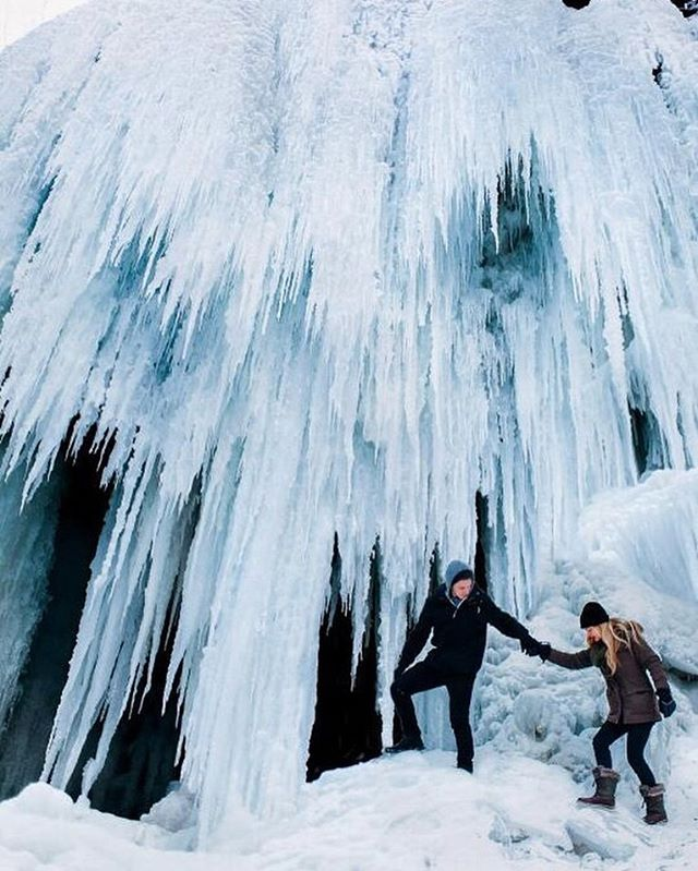 Tiffany Falls, Hamilton  1 hour 13 minutes  Photo via @sarahgpow ^ How it feels in Toronto right now, only slightly less magical. Why not kick off your weekend with a little breakfast at Tiffany's: a day trip hike-and-brunch in HamOnt? Just don't get impaled (for serious though, these falls are extra dangerous in the winter - enter at your own risk, wear proper gear and do your research before hitting the trails!). ❄️ #escapetoronto