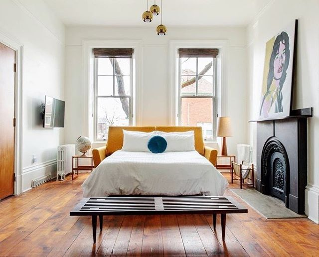 The Bellwether House, Hamilton  53 minutes  Photos via @bellwetherhouse  Hallelujah, HamOnt. Bless your beautifully brunch-y, brew-y, Brooklyn-y heart. The Bellwether House is a much-needed antidote to the sea of Airbnb mediocrity in the 'hood - rent the whole townhouse for up to 9 pals, or one of the two apartments for a smaller crew. Fuel up at all the steel town hot spots: @motelhamilton, @themulemakestacos, @hellobaked, and pretty new addition @fratscucina - then hike the falls, antique-shop your lil heart out, and wind down with a @grainandgritbeer brew and @donutmonsterhamilton fritter. The weather may not be belle just yet, but will you even notice? DM for the link! #escapetoronto