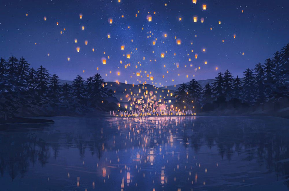 You may recognize 'The Lantern Festival' by Loika as the image from our announcement post.