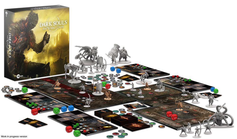A work-in-progress version of  Dark Souls: The Board Game  as shown on their Kickstarter page