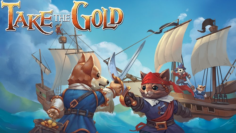 Take the Gold  is a quick-play, pirate themed card game up on Kickstarter. Oh, did we mention the kittens and corgis?