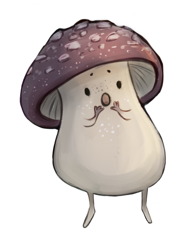 The Shroomlet is one of Firelight's less intimidating enemies. Art by Caitlin Scannell.