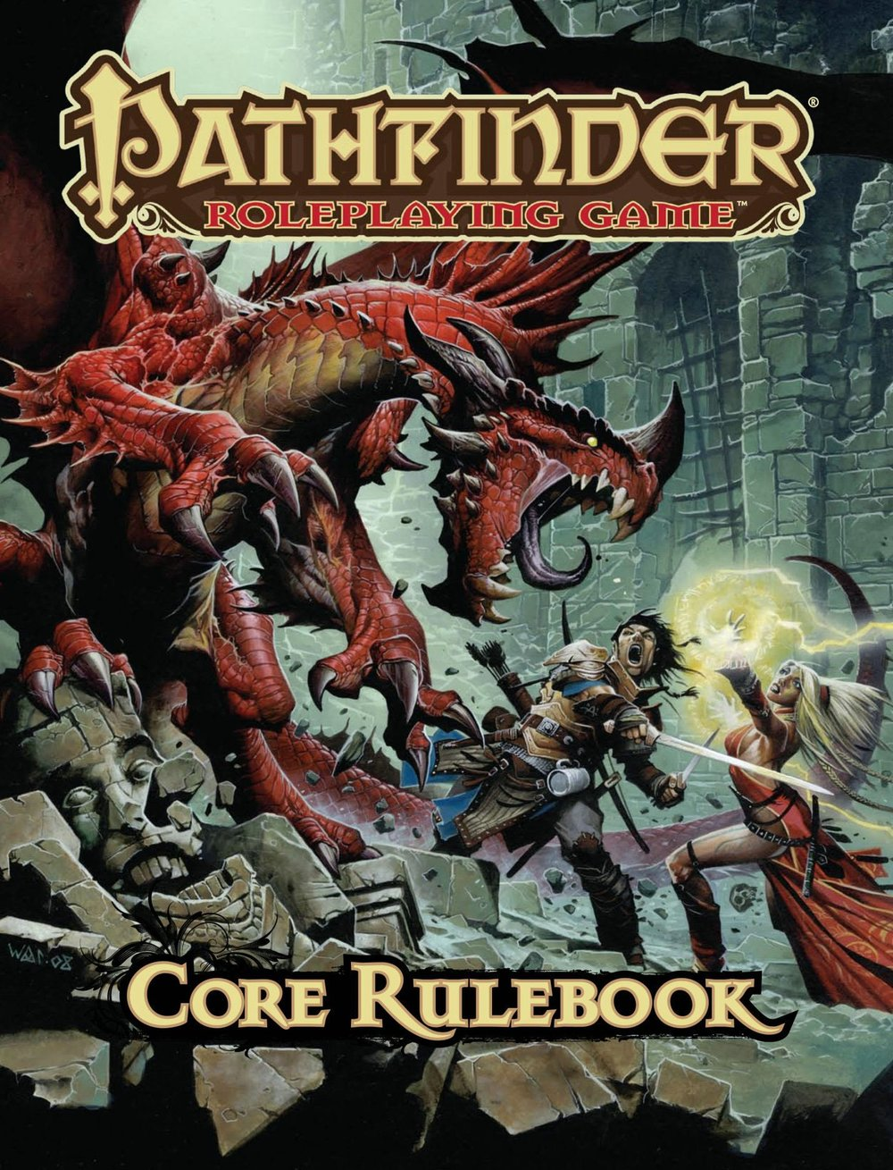 Pathfinder's Core Rulebook, clocking in at nearly 600 pages