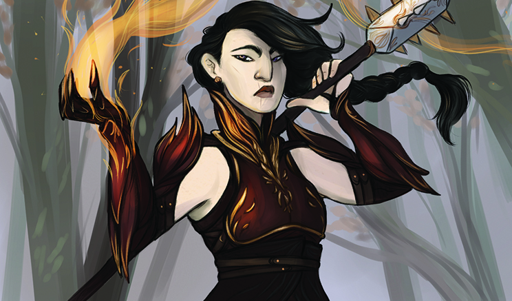 The Battlemage from Firelight: The Questing Card Game