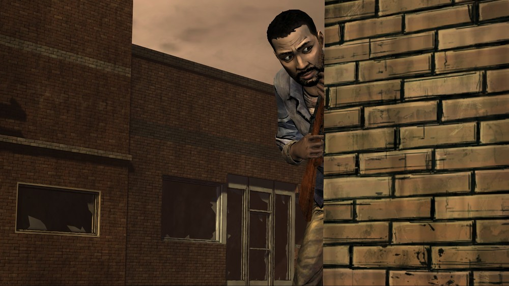 walking dead ep 3 lee sneaking