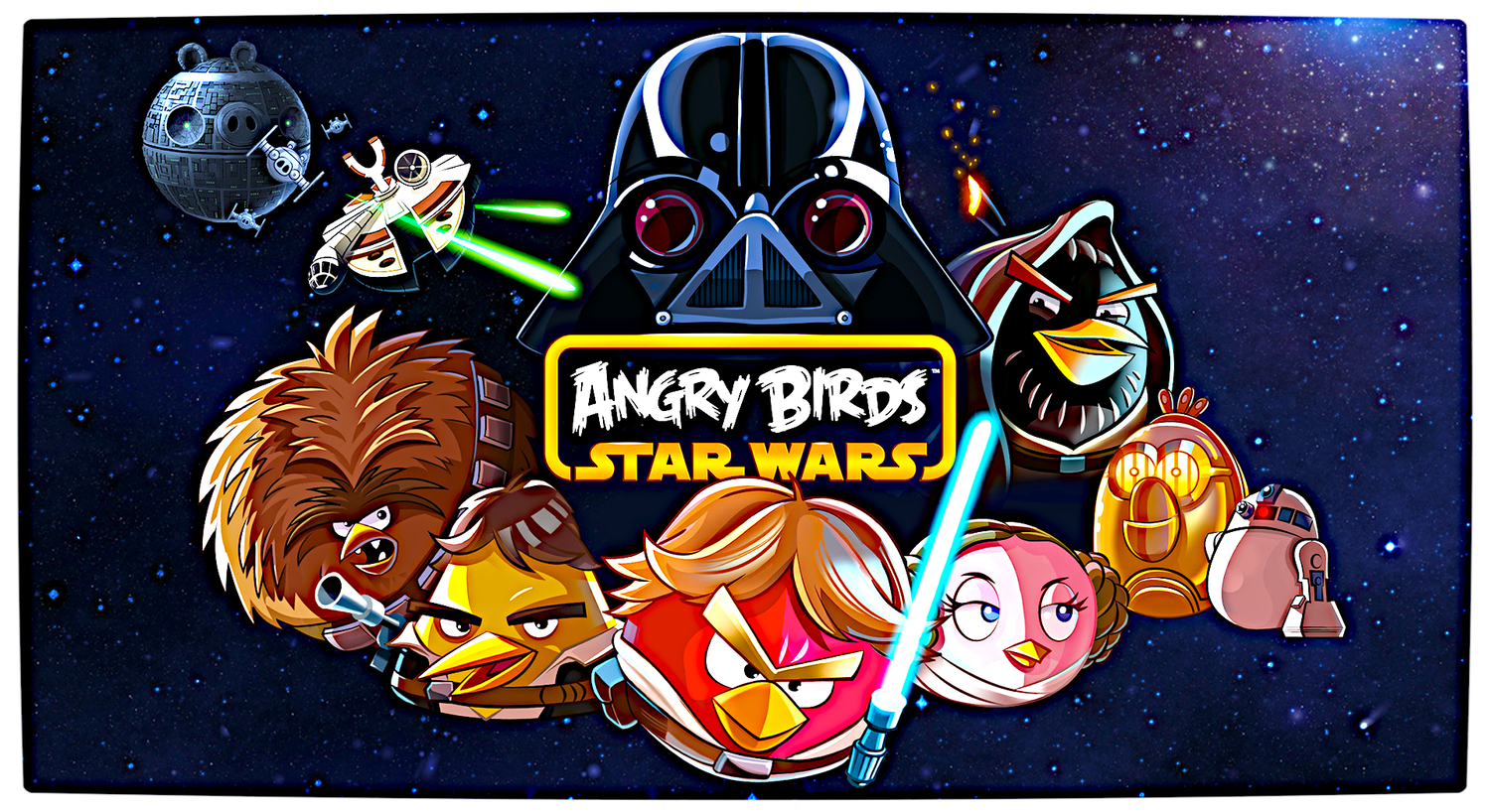 Angry Birds Star Wars DarkStation - Famous logos redesigned as angry birds characters
