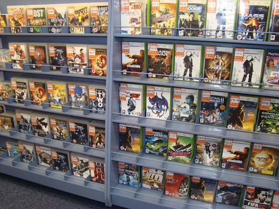 Used Games at a Game Store