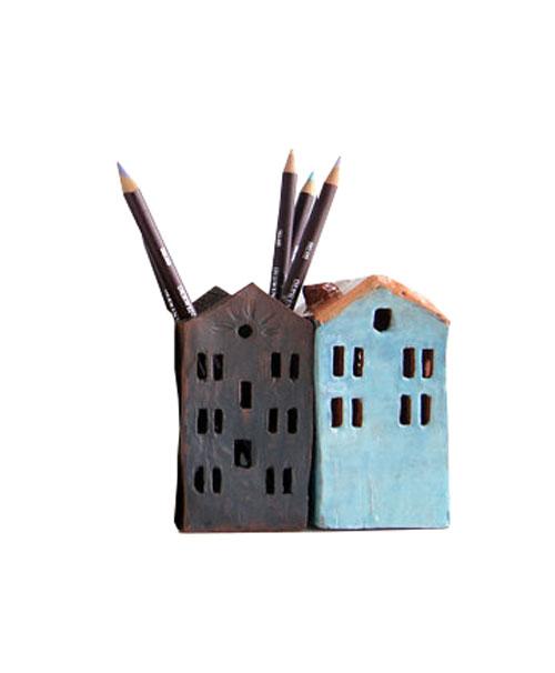 Ceramic House pencil holder