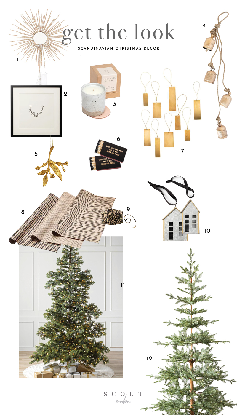 1. Tree Topper  | 2.  Antler Print  | 3.  Candle  | 4.  Bells  | 5.  Tree Ornament  | 6.  Matches  | 7.  Brass Ornaments  | 8.  Wrapping Paper  | 9.  Wrapping String  | 10.  Home Ornament Set  | 11.  Yukon Spruce  | 12.  Alpine Balsam Fir