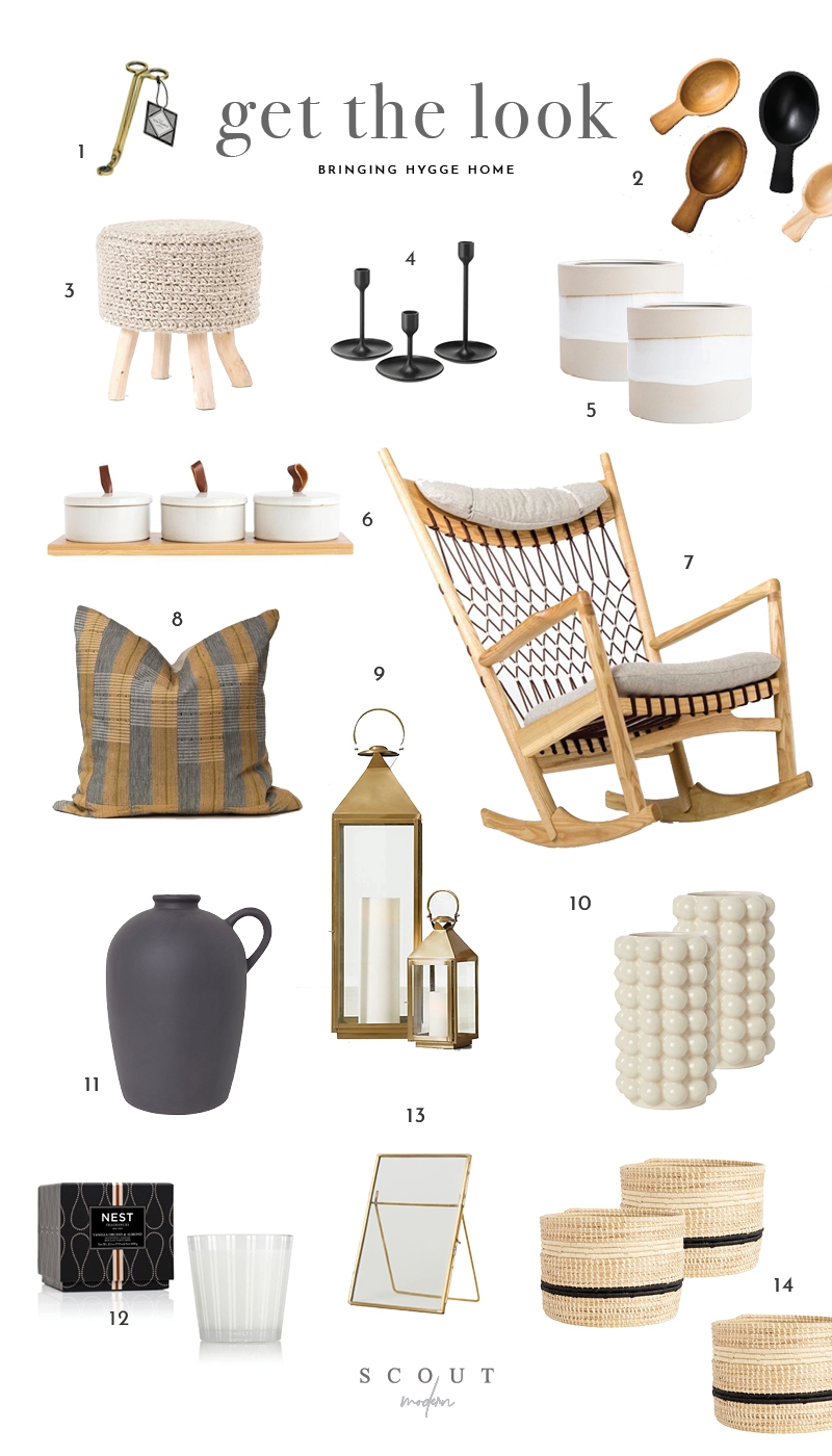 1 .  Wick Trimmer  | 2.  Wooden Spoons  | 3.  Footstool  | 4.  Candlesticks  | 5.  Planter  | 6.  Canister Set  | 7.  Rocking Chair  | 8.  Pillow  | 9.  Lanterns  | 10.  Vase  | 11.  Stoneware Jug  | 12.  Candle  | 13.  Picture Frame  | 14.  Baskets