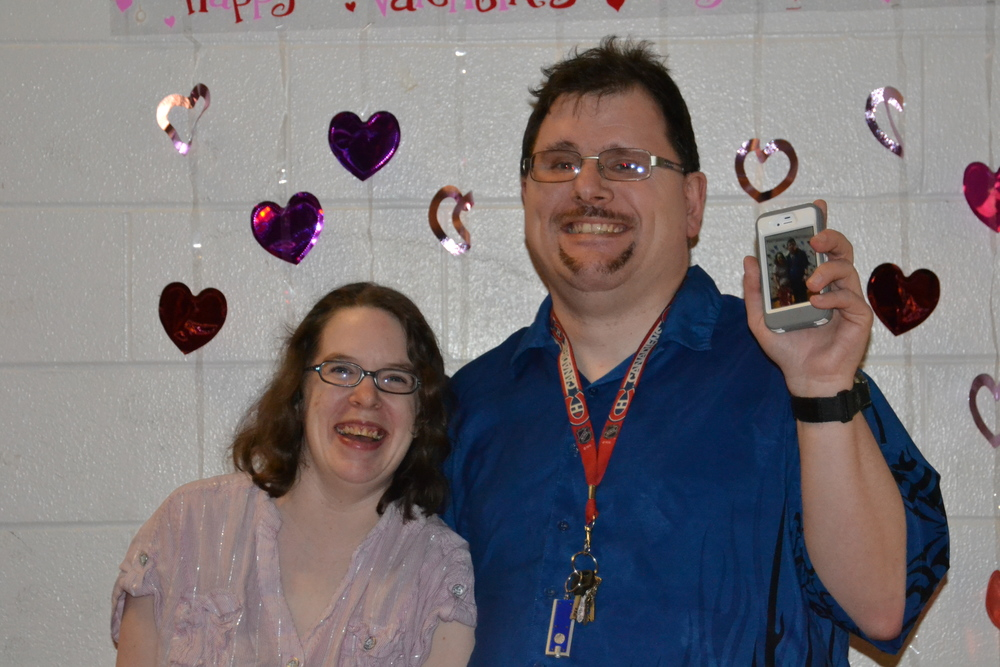 Melissa and Robert enjoying the annual Valentines Dinner & Dance.