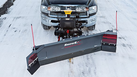 The SnowEx® adjustable-wing POWER PLOW