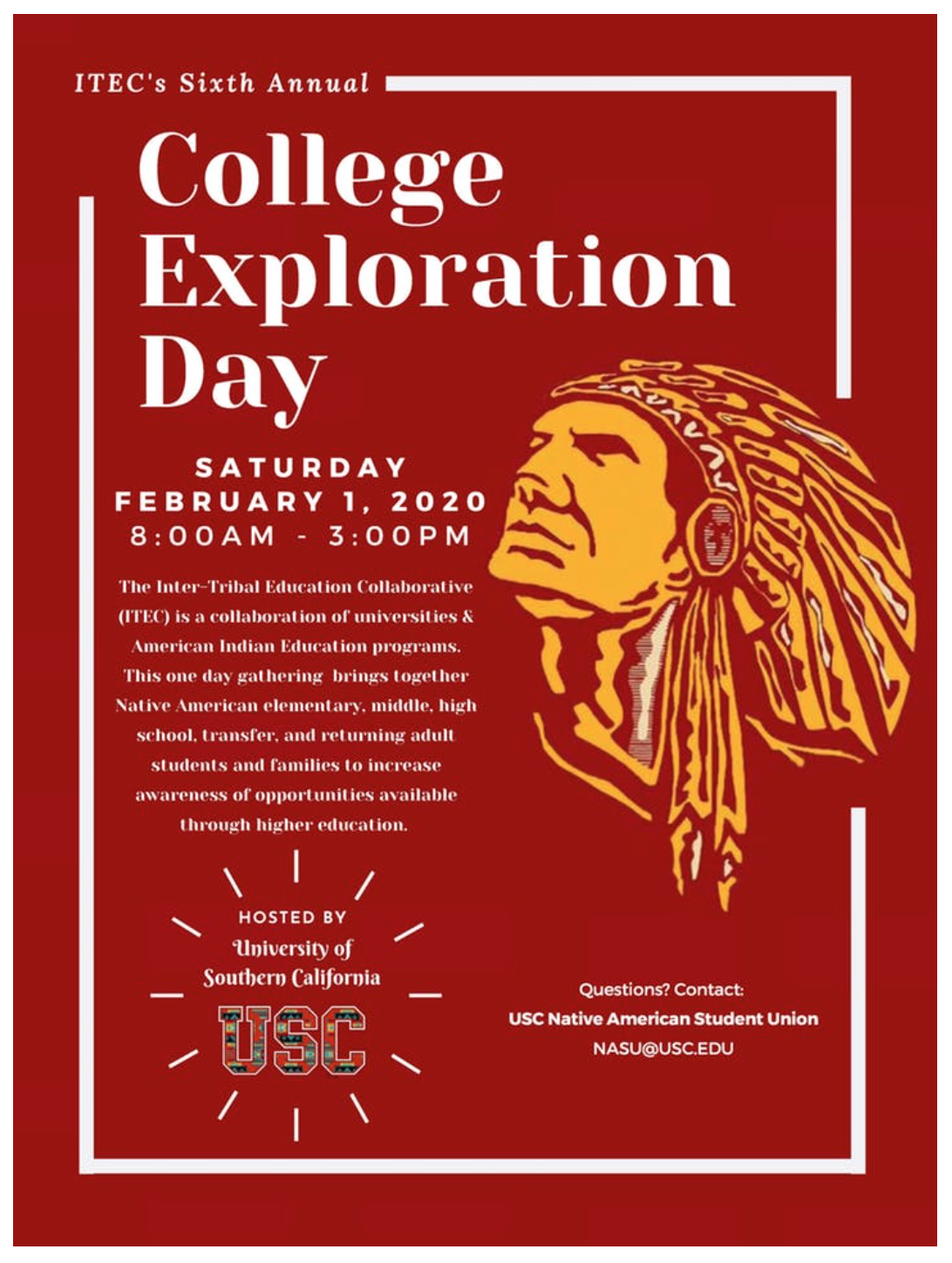 Usc Fall Semester 2020.Itec College Exploration Day Usc Lausd Indian Education