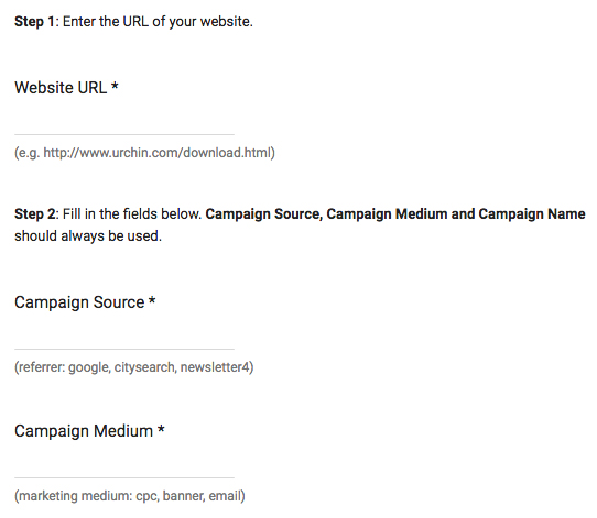 Google Analytics provides you with a URL builder
