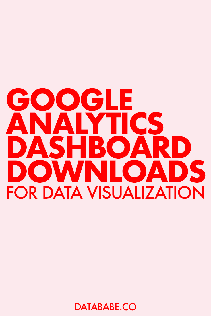 google analytics custom dashboard downloads