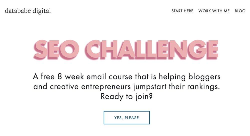 8 Week SEO Challenge