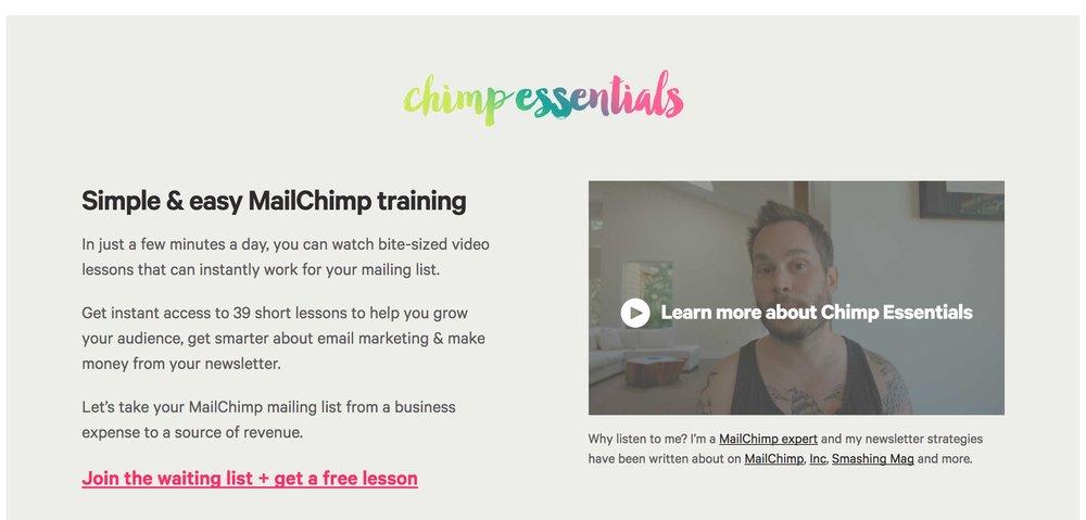 Chimp Essentials teaches you how to use MailChimp