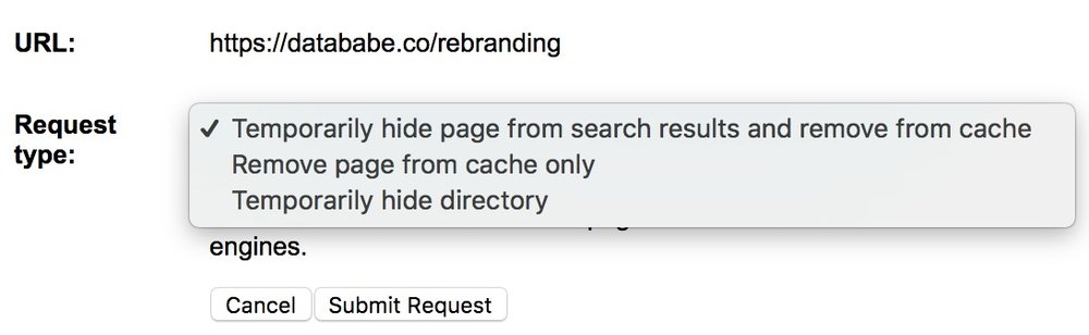 Remove from cache, temporarily hide, or both