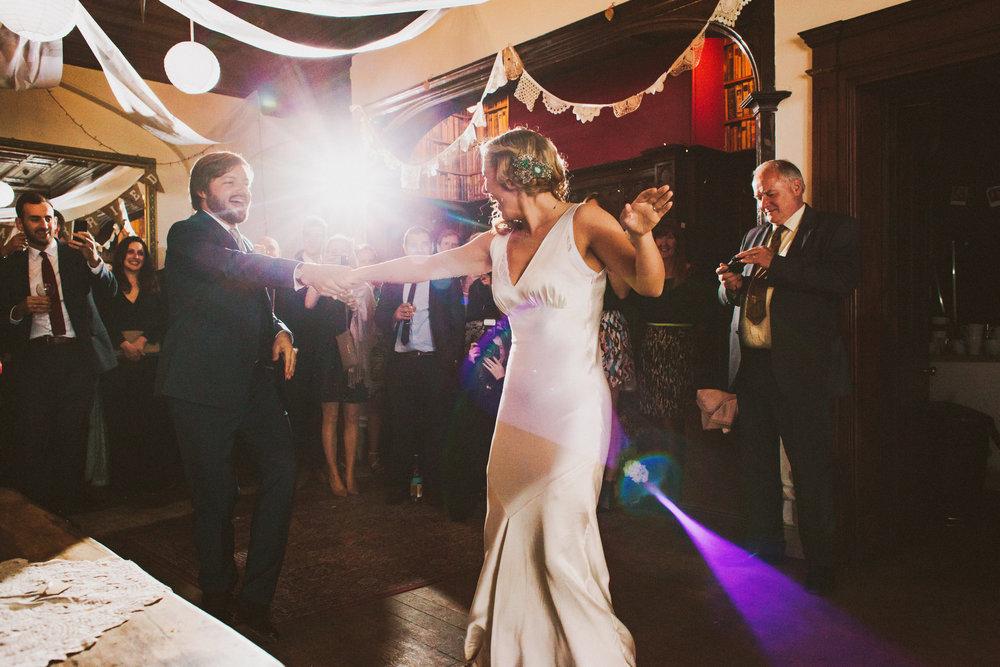 Jo-Peak-District-Autumn-Wedding-Bespoke-Vintage-Bias-Wedding-Gown-Lace-Jacket-Susanna-Greening-Matlock-19