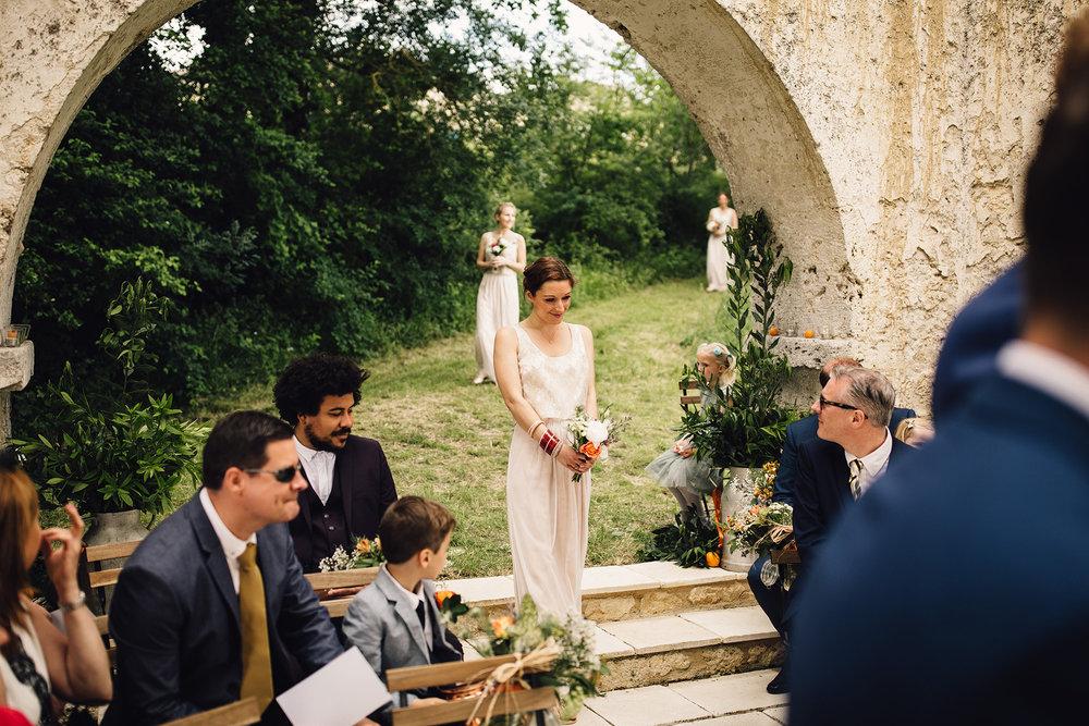 Hannah-Bespoke-Bridesmaids-Bohemian-French-Wedding-Gold-Lace-Susanna-Greening-Designs-Matlock-Derbyshire-8