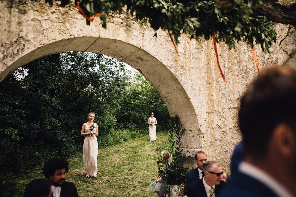 Hannah-Bespoke-Bridesmaids-Bohemian-French-Wedding-Gold-Lace-Susanna-Greening-Designs-Matlock-Derbyshire-9
