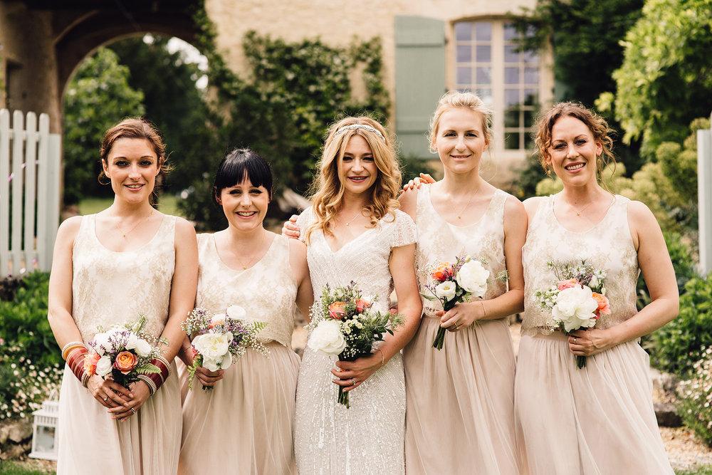 Hannah-Bespoke-Bridesmaids-Bohemian-French-Wedding-Gold-Lace-Susanna-Greening-Designs-Matlock-Derbyshire-17