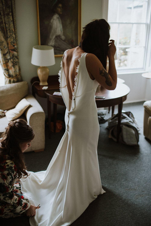 Katt-Scotland-Comrie-Crieff-Bias-Crepe-Wedding-Gown-Lace-Bridal-Biker-Jacket-Bespoke-Susanna-Greening-Derbyshire-5