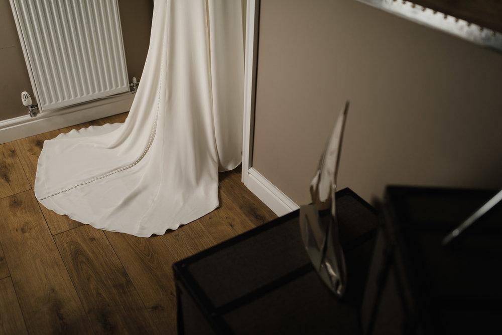 Lauren-Peak-District-Bespoke-Wedding-Gown-Petal-Veil-Train-Long-Sleeve-Susanna-Greening-Designs-Matlock-Derbyshire-8